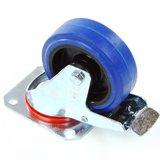 Zwenkwiel 100 mm blauw met rem_16