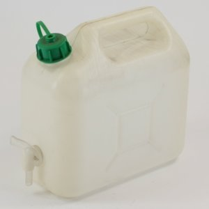Jerrycan 5 liter wit + kraan