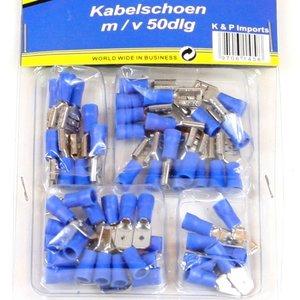 Kabelschoen 50 delig blauw man/vrouw