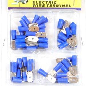 Kabelschoen 50 delig blauw man