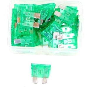 Steekzekering 30 Ampere groen doos 25 stuks
