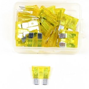 Steekzekering 20 Ampere geel doos 25 stuks
