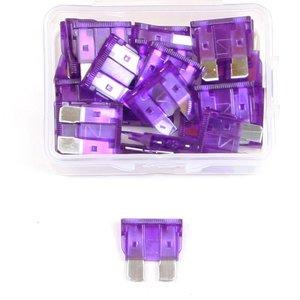 Steekzekering 3 Ampere paars doos 25 stuks