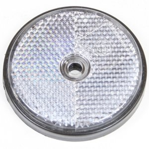 Reflector rond 60 mm. wit