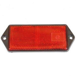 Reflector rechthoek 100x45 rood schroef