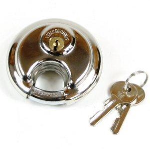 Discusslot 70 mm met 2 gelijke sleutels