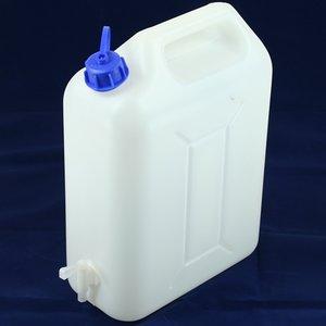 Jerrycan 10 liter plastic wit met kraan