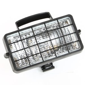 Werklamp 160x83 voor H3 lamp, rechthoekig