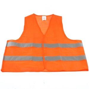 Veiligheidsvest oranje, met reflectie