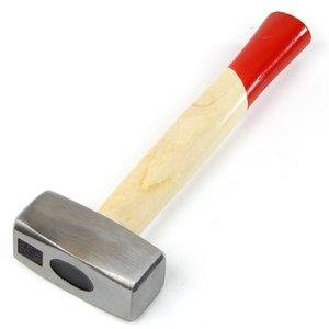 Moker/Vuist 1 kilo, houten steel