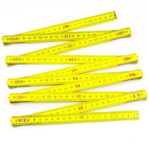 Duimstok 2 meter hout geel