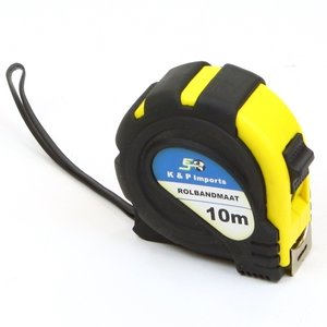 Rolbandmaat 10 meter rubber grip
