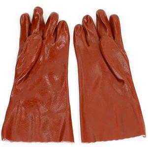 Handschoenen PVC rood 35 cm.