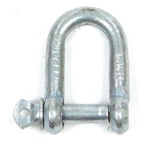"D-sluiting 8 mm - 5/16"", verzinkt"