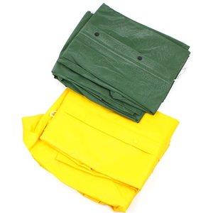 Regenpak geel/groen maat XL
