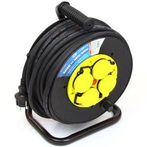 Kabelhaspel 25 meter rubber
