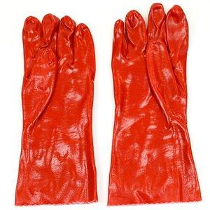 Handschoenen PVC rood, 35 cm.