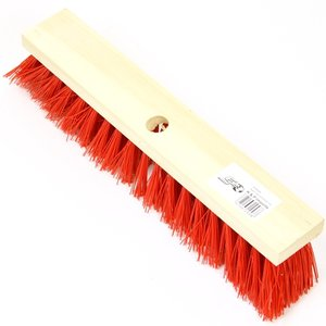 Bezem rood nylon 400 mm