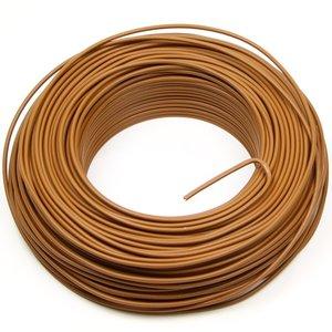 VD draad 1,5 mm² bruin, rol 100 meter