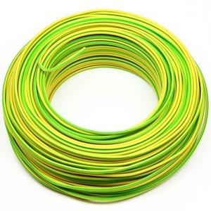 VD draad 1,5 mm² geel/groen, rol 100 meter
