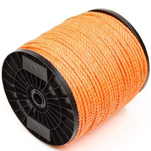 Touw 6 mm oranje, per meter bestellen