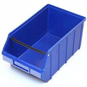 Magazijnbak 350x205x165 plastic blauw