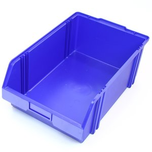 Magazijnbak 500x300x180 plastic blauw