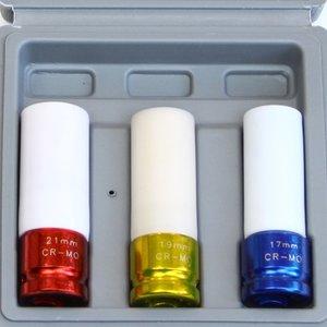 Doppenset 3 delig voor lichtmetalen velgen