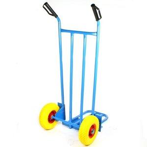 steekwagen blauw met klep en anti-lek wielen