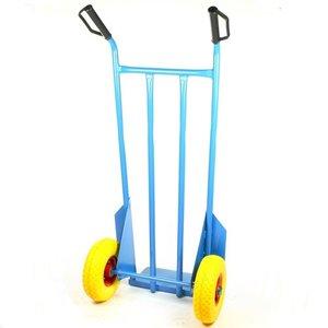steekwagen blauw met anti-lek wielen