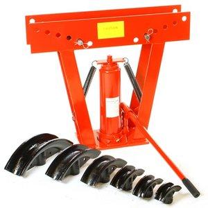 Pijpenbuiger / pers hydraulisch 12 ton met 6 hulpstukken