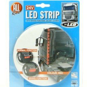 LED strip 2½ meter 24 leds rood 24 volt